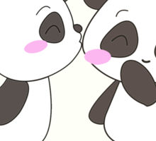 Panda Love!  Sticker