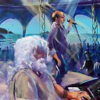 Brian Cadd and Glenn Shorrock painted live at the Airlie Beach Music Festival by robert (bob) gammage