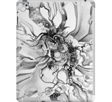Sub-Atomic Stress Release Therapy - Watercolor Painting - Black and White iPad Case/Skin