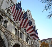 American Flags at the US Post Office Pavilion by Suleyman Anadol