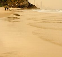 On North Burleigh beach by Murray Swift