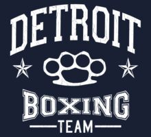 Detroit Boxing Team (Vintage Distressed Design) by robotface