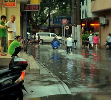 China Dream: Rainy Street by CaitlinDugas
