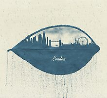 Rainy Day in London by Paula Belle Flores