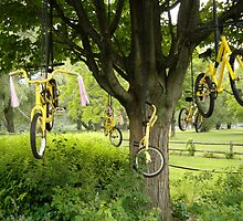 Yellow Bicycle Tree by Marie Van Schie