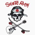 Skate Rock Skull  by BUB THE ZOMBIE