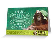 Earth 4 Orangutans Christmas Card Greeting Card