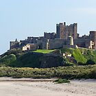 Bamburgh Beach and Castle. by Dave Staton