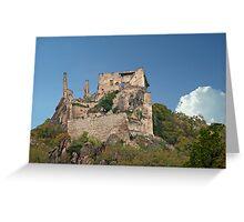 Kuenringer Castle Ruins Greeting Card