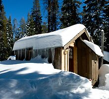 Cabin With Snow by Japhotoguy