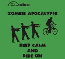 Cycling T Shirt - Zombie Apocalypse - Stay Calm and Ride On by ProAmBike