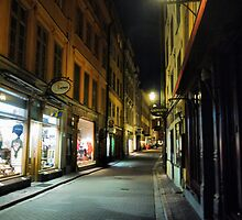Window Shopping at Night in Stockholm (2) by Larry Lingard-Davis
