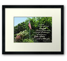 Great Nation Bless You Framed Print