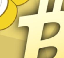 """Bit"" Coin Bitcoin tshirt Sticker"