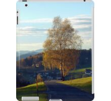 Tree, road and indian summer evening II | landscape photography iPad Case/Skin