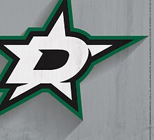 Dallas Stars Minimalist Print by SomebodyApparel