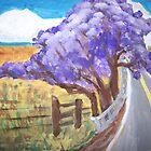Jacaranda Tree--Upcountry, Maui  by Kate Delancel Schultz