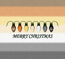 Love Gay Bear Pride Christmas Lights by LiveLoudGraphic