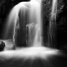 Dragons Teeth in the Falls BW by Andy Freer