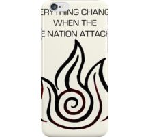 BUT THEN EVERYTHING CHANGED iPhone Case/Skin