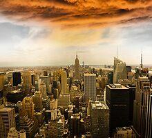 Storm over Manhattan 2 by Robin Kamp