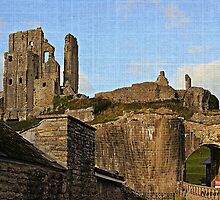 Drawbridge-Corfe Castle by naturelover