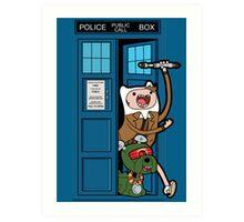 Adventure Time Lord Generation 10 - TARDIS Art Print