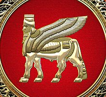 Winged Bull Lamassu [Gold] by Captain7