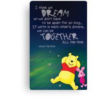 Winnie the Pooh - Dreams Canvas Print