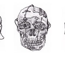 Three Skulls of Mechanical Doom by betsystreeter
