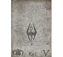 Skyrim Song Of The Dragonborn Poster Photographic Print
