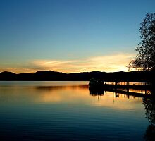 Pooley Bridge at dusk by Helz