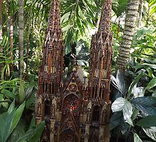 Model St. Patricks Cathedral, New York Botanical Garden Holiday Train Show, Bronx, New York by lenspiro