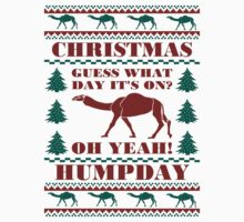 Christmas Hump Day Funny Ugly Sweater Baseball Jersey by xdurango