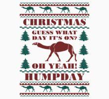 Christmas Hump Day Funny Ugly Sweater Baseball Jersey by xdurango