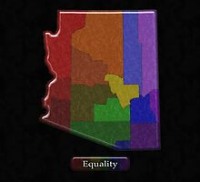 LGBT Equality Arizona Rainbow Map - LGBT Equality by LiveLoudGraphic