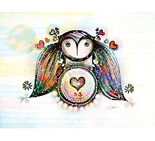 Love and Light Owl Photographic Print