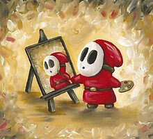 Shy Guy Artist by Katie Clark