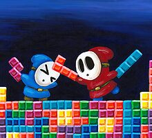 Shy Guys Playing Tetris by Katie Clark