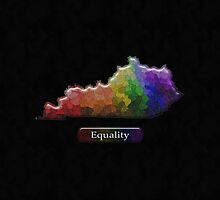LGBT Equality Kentucky Rainbow Map - LGBT Equality by LiveLoudGraphic