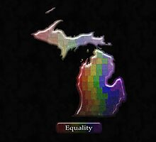 LGBT Equality Michigan Rainbow Map - LGBT Equality by LiveLoudGraphic