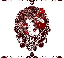 Poison - Blood Rose on White by Samantha Johnson