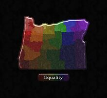 LGBT Equality Oregon Rainbow Map - LGBT Equality by LiveLoudGraphic