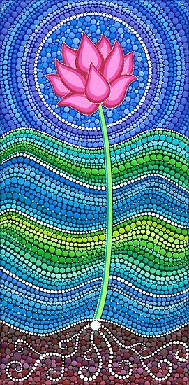 Lotus Growing by Elspeth McLean