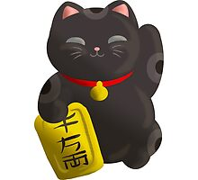 Lucky Cat Black by thedustyphoenix