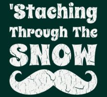 Staching Through The Snow Funny Christmas Design by xdurango