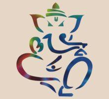 Rainbow Ganesh by mancerbear