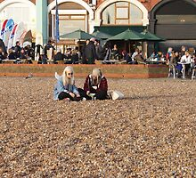 Chilling Out On Brighton Beach by Jazzdenski