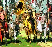 Mounted Knights in Scotland by Dennis Melling