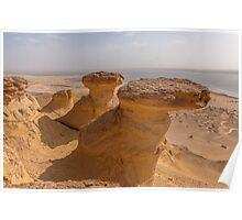 Desert Scenery in Egypt Poster